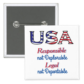 USA Responsible and Legal Americans 15 Cm Square Badge