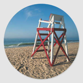 USA, Rhode Island, Charleston Beach, Beachfront Classic Round Sticker