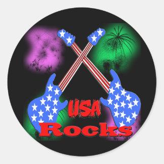 USA Rocks 4th Round Sticker