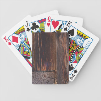 USA, Salmon, Idaho, Log Cabin Bicycle Playing Cards