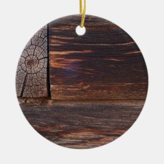 USA, Salmon, Idaho, Log Cabin Christmas Ornament