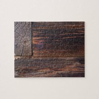 USA, Salmon, Idaho, Log Cabin Jigsaw Puzzle