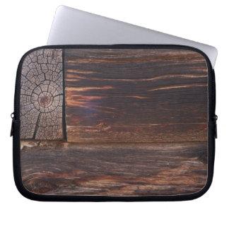 USA, Salmon, Idaho, Log Cabin Laptop Sleeve