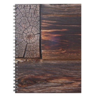 USA, Salmon, Idaho, Log Cabin Spiral Notebook