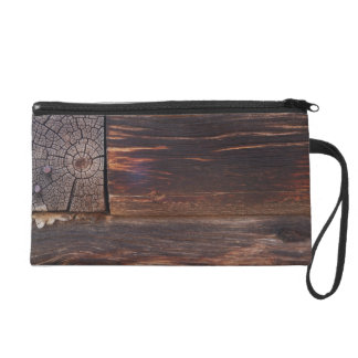 USA, Salmon, Idaho, Log Cabin Wristlet