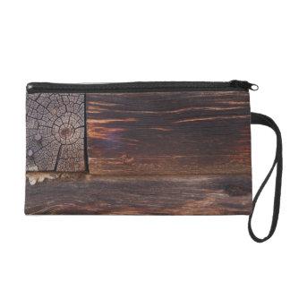 USA, Salmon, Idaho, Log Cabin Wristlet Purses
