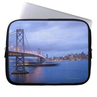 USA, San Francisco, City skyline with Golden 2 Laptop Sleeve
