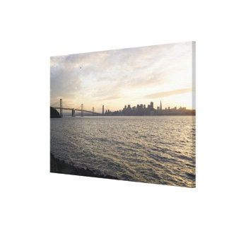 USA, San Francisco, City skyline with Golden Gallery Wrap Canvas