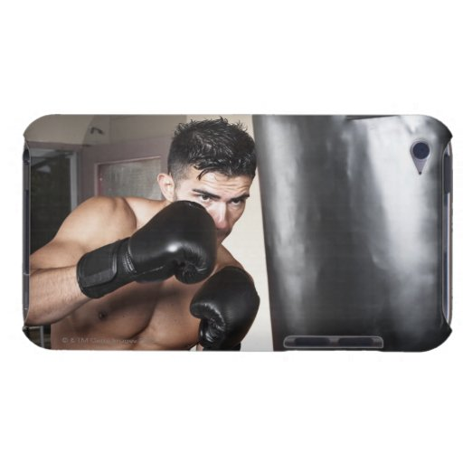 USA, Seattle, Portrait of young man boxing in Barely There iPod Covers