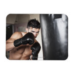 USA, Seattle, Portrait of young man boxing in Rectangular Photo Magnet