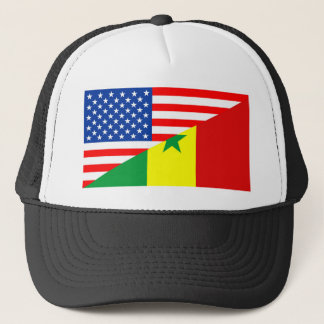 usa senegal country half flag america symbol cap