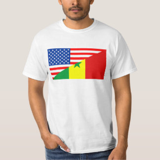 usa senegal country half flag america symbol T-Shirt