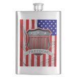 USA Shield Hip Flasks