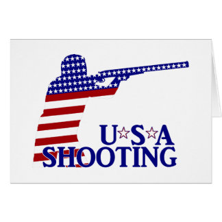USA Shooting (Red White And Blue Rifle) Greeting Card