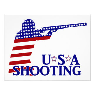 USA Shooting Red White And Blue Rifle Announcements