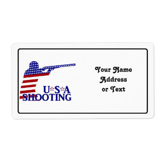 USA Shooting (Red White And Blue Rifle) Shipping Label