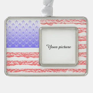 USA SILVER PLATED FRAMED ORNAMENT