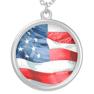 USA SILVER PLATED NECKLACE
