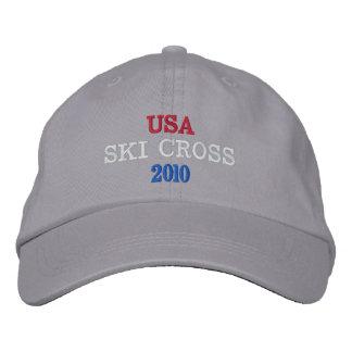 USA SKI CROSS 2010 EMBROIDERED BASEBALL CAPS