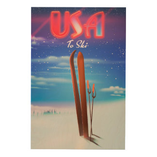 usa ski travel poster