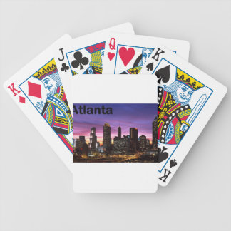 USA skyline at sunset (St.K) Bicycle Playing Cards