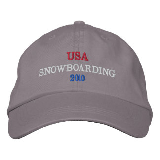 USA  SNOWBOARDING 2010 EMBROIDERED BASEBALL CAP