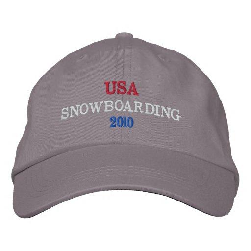 USA  SNOWBOARDING 2010 EMBROIDERED BASEBALL CAP