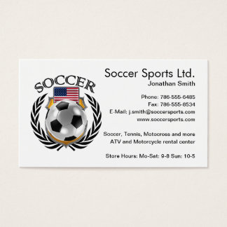 USA Soccer 2016 Fan Gear Business Card