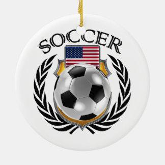 USA Soccer 2016 Fan Gear Christmas Ornament