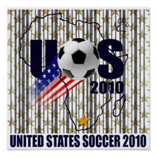 USA soccer Africa stars and stripes Poster
