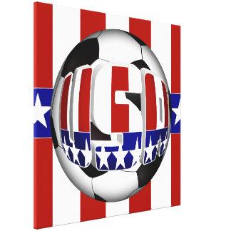 USA Soccer Ball Gallery Wrap Canvas