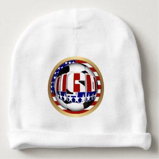 USA Soccer Ball Baby Beanie