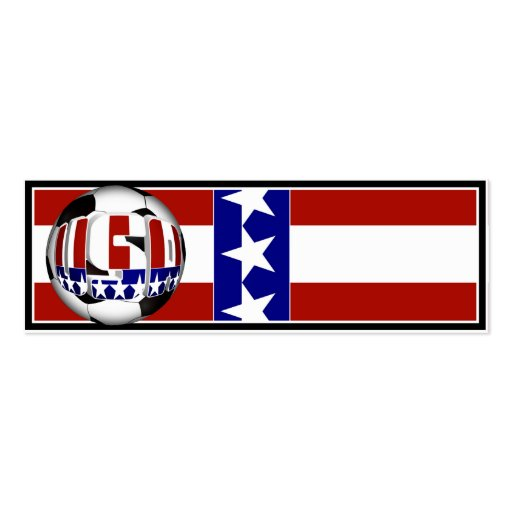 USA Soccer Ball Pack Of Skinny Business Cards