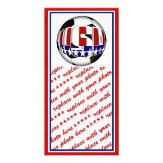 USA Soccer Ball Photo Card Template