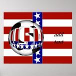 USA Soccer Ball Poster