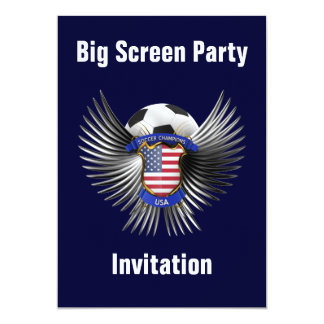 USA Soccer Champions 13 Cm X 18 Cm Invitation Card