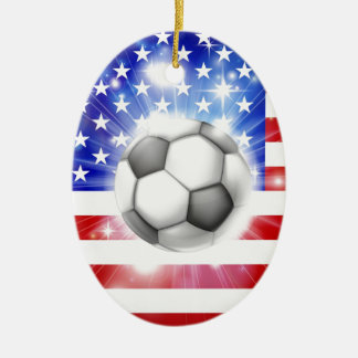 USA soccer flag Christmas Ornament