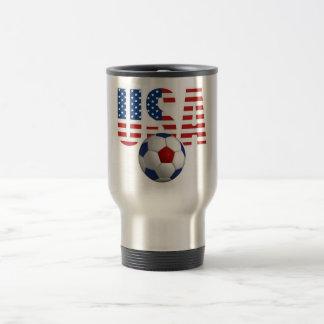 USA Soccer 15 Oz Stainless Steel Travel Mug