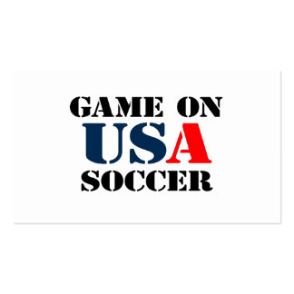 USA Soccer Pack Of Standard Business Cards