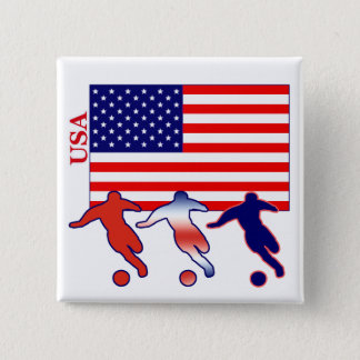 USA Soccer Players 15 Cm Square Badge
