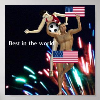 USA Soccer Poster