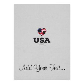 USA Soccer Shirt 2016 17 Cm X 22 Cm Invitation Card