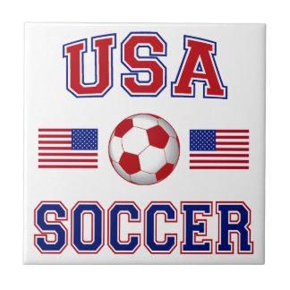 USA Soccer Small Square Tile