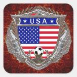 USA Soccer Square Sticker