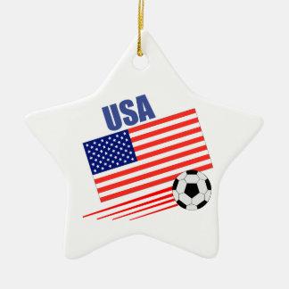 USA Soccer Team Christmas Ornament