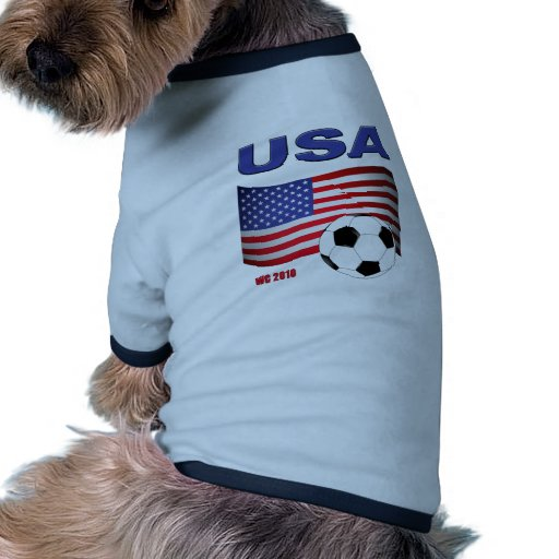 USA Soccer World Cup 2010 Ringer Dog Shirt