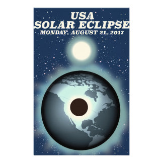 USA Solar Eclipse 2017 vintage poster Stationery