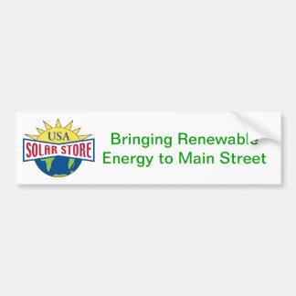 USA Solar Store Bumper Sticker Car Bumper Sticker