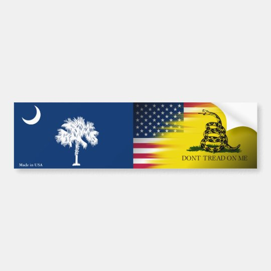 USA, South Carolina, Gadsden Flag Bumper Sticker