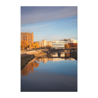 USA, South Dakota, Sioux Falls, City Skyline Gallery Wrap Canvas
